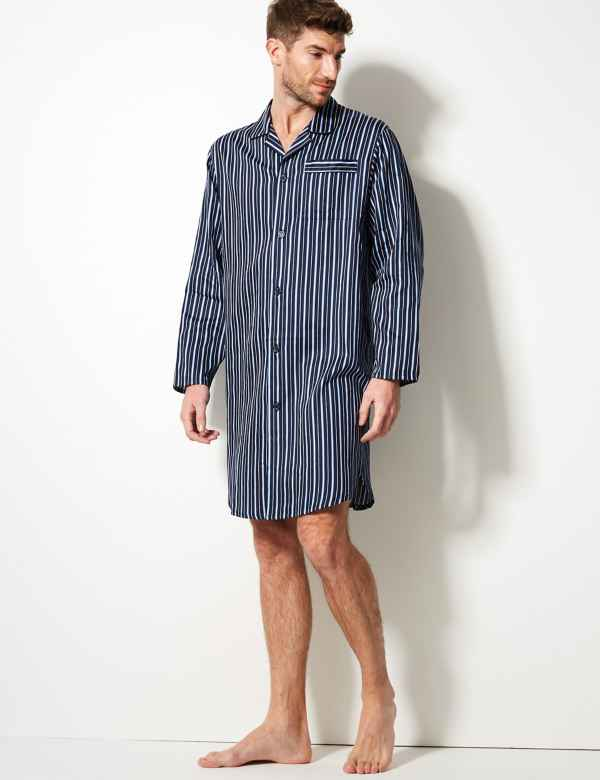 b5f261dccd Pure Cotton Striped Nightshirt