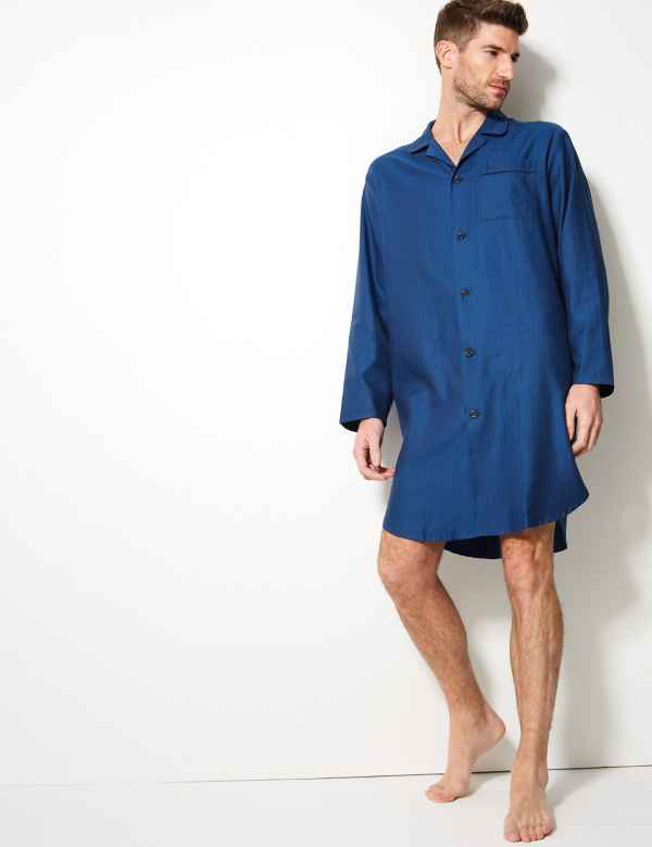 39c31526ba Pure Cotton Herringbone Nightshirt