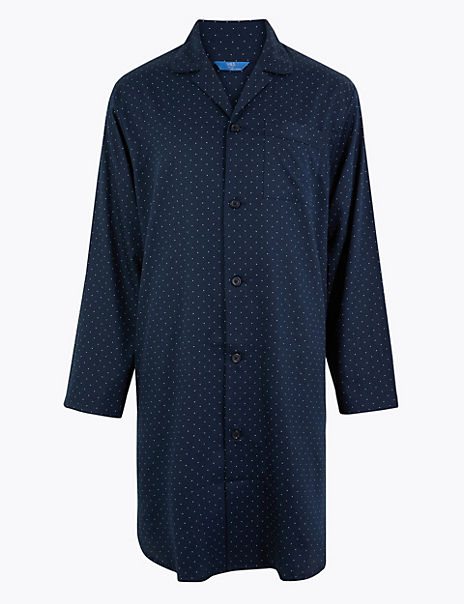 Pure Cotton Polka Dot Nightshirt