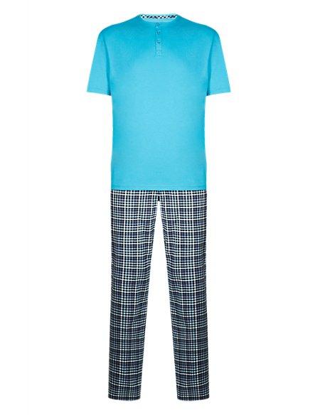 Pure Cotton Gingham Checked Pyjamas