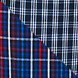 2 Pack Pure Cotton Checked Long Pyjama Bottoms, RED MIX, swatch