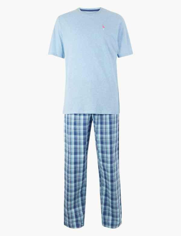 27d28ee30862 2in Longer Pure Cotton Flamingo Print Pyjama Set
