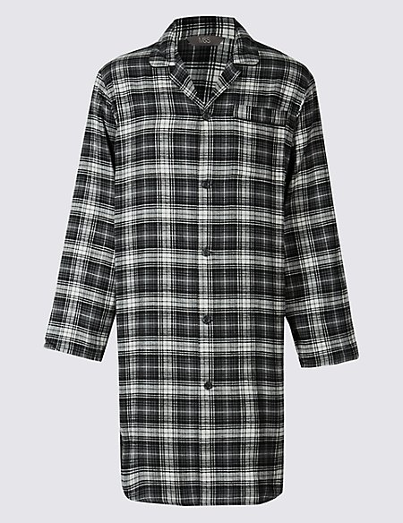 Pure Cotton Wincey Checked Nightshirt