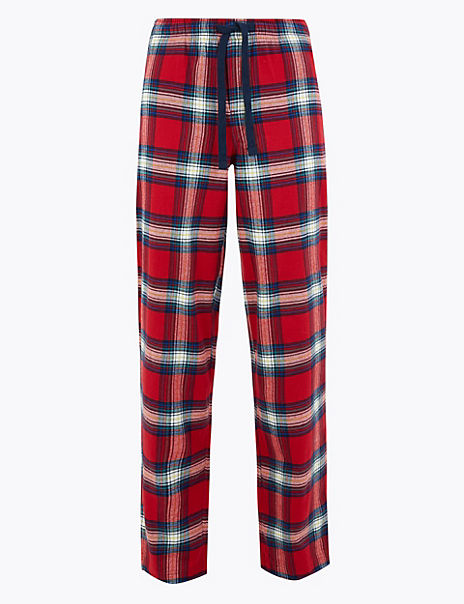 Longer Length Pure Cotton Pyjama Bottoms