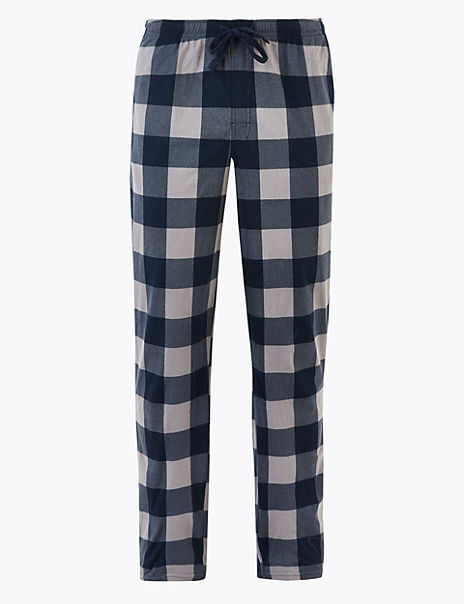 Supersoft Gingham Checked Pyjama Bottoms