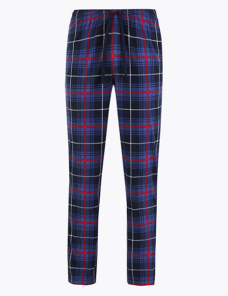 Big & Tall Supersoft Checked Pyjama Bottoms