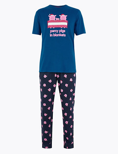 Pure Cotton Percy Pig Pyjama Set