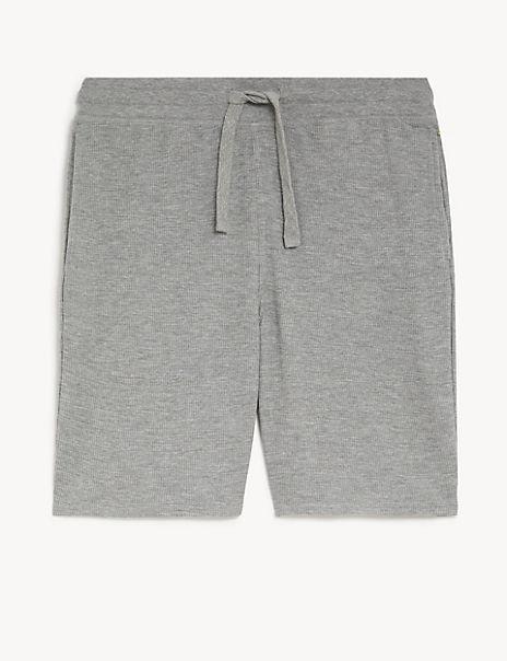 Cotton Blend Waffle Pyjama Shorts