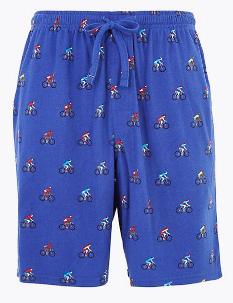 Bike Print Pyjama Shorts