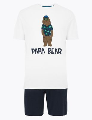 Pure Cotton Mini Me Bear Pyjama Set