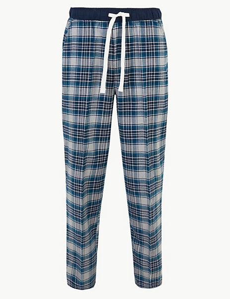 Check Print Pyjama Bottoms