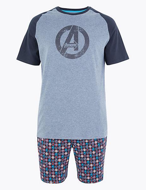 Cotton Marvel Avengers™ Logo Pyjama Set