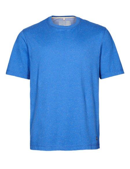 Pure Cotton Flecked T-Shirt