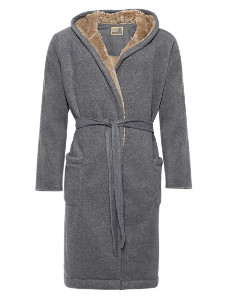 Hooded Fleece Dressing Gown | North Coast | M&S