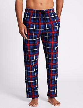 Checked Long Pyjama Bottoms