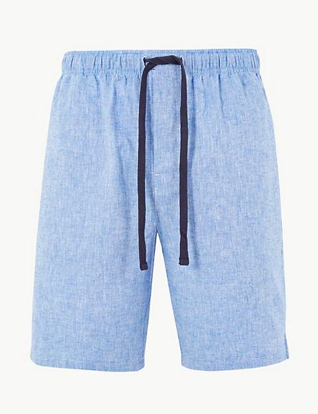 Linen Rich Pyjama Shorts