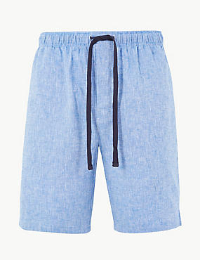 aaaa4112f8 Pantalón corto de pijama de lino