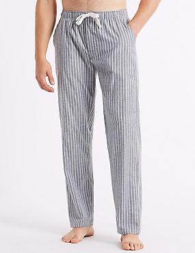 Cotton Blend Long Pyjama Bottoms