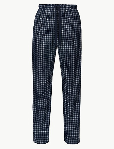 Checked Long Pyjama Bottoms