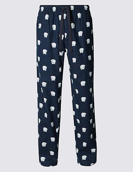 Pure Cotton Stay Soft Animal Print Pyjama Bottoms