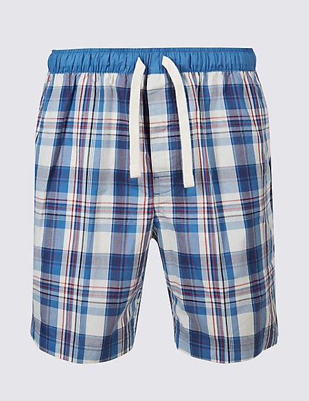 Pure Cotton Checked Shorts
