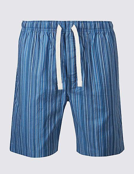 Pure Cotton Striped Shorts
