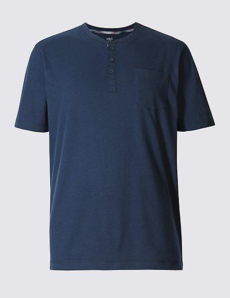 2in Longer Pure Cotton Pyjama Top