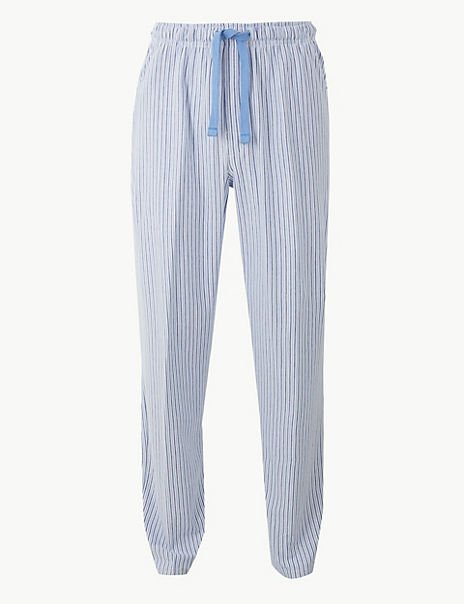 2in Longer Cotton Blend Long Pyjama Bottoms