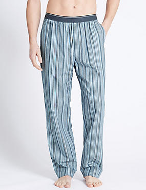 2in Longer Pure Cotton Long Pyjama Bottoms