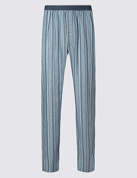 2in Longer Pure Cotton Long Pyjama Bottoms