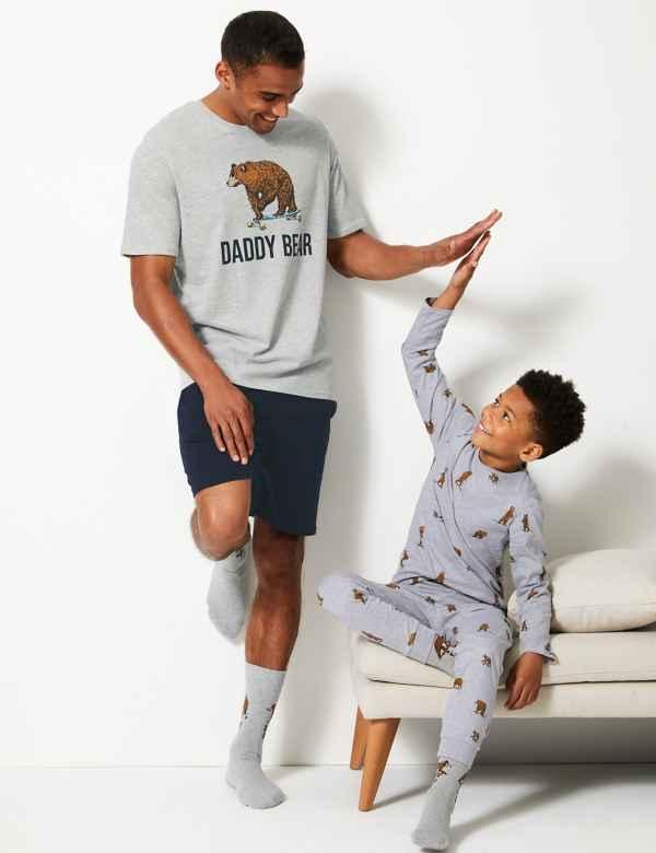 ed4eb7cb382 Bear Print Fathers Day Pyjama Collection