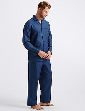 1228dd5211 Big   Tall Pure Cotton Herringbone Pyjama Set ...
