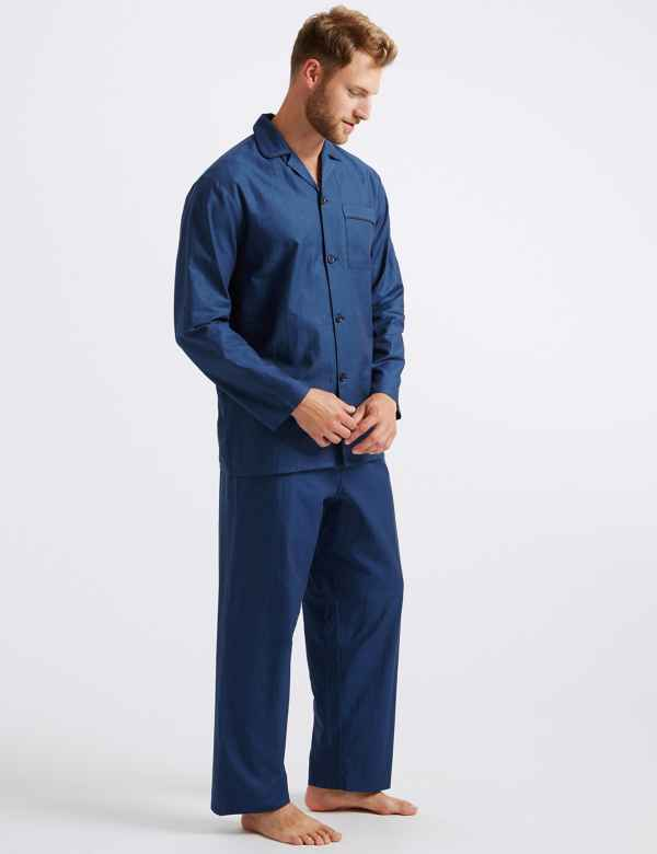 4aeaf7f303 Big   Tall Pure Cotton Herringbone Pyjama Set