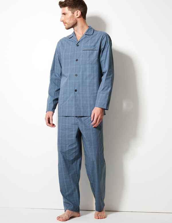 06b79c977c Pure Cotton Checked Pyjama Set. Big   tall sizes available