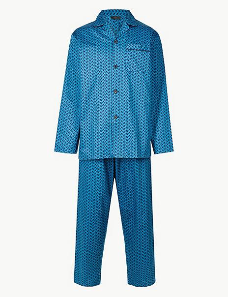 Pure Cotton Plane Print Pyjama Set