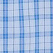 2in Longer Pure Cotton Checked Pyjama Set, BLUE MIX, swatch