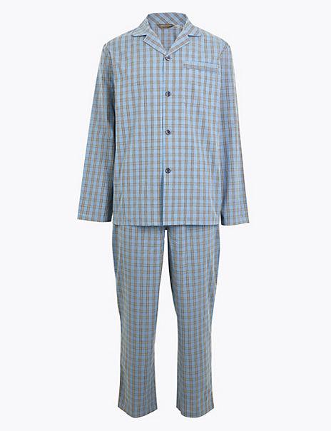 Cotton Checked Pyjama Set