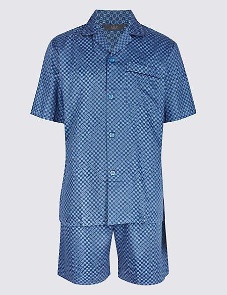 Pure Cotton Printed Pyjama Shorts Set