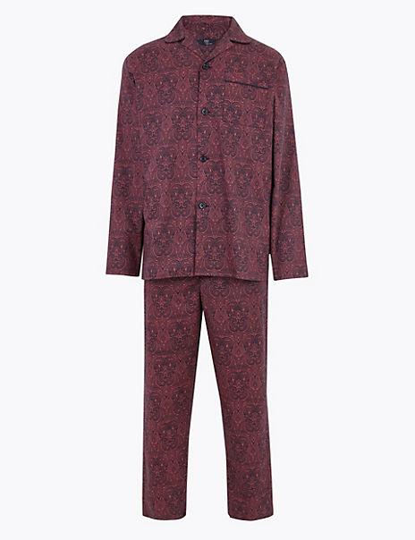 Pure Cotton Paisley Print Pyjama Set