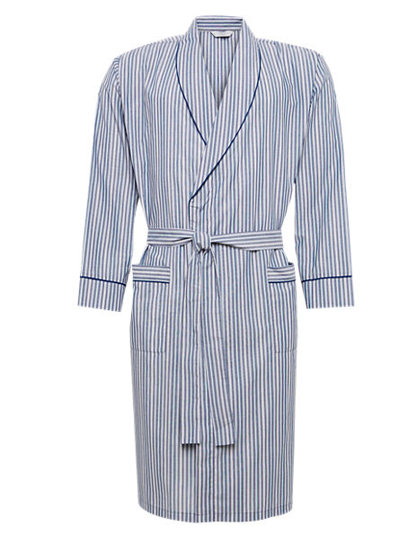 Striped Winceyette Dressing Gown