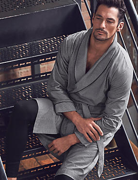Pure Cotton Dressing Gown with Belt
