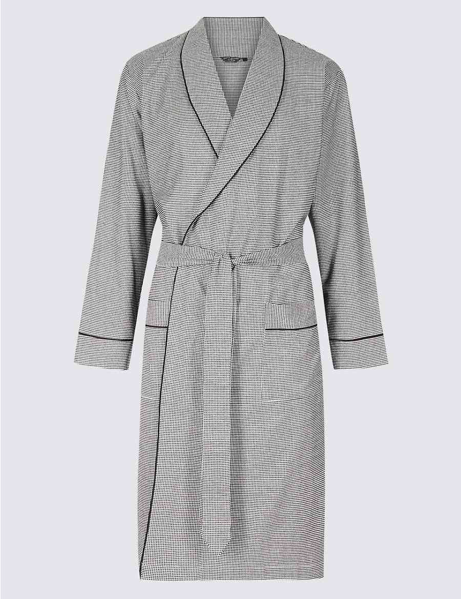 306dff4df7f Pure Cotton Dressing Gown with Belt