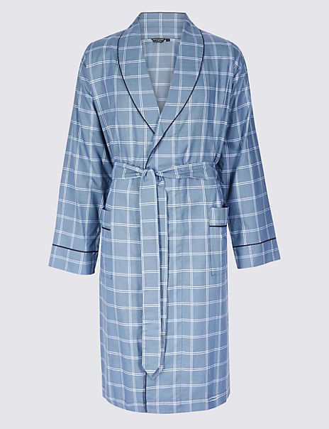 Supima® Cotton Lightweight Dressing Gown with Belt