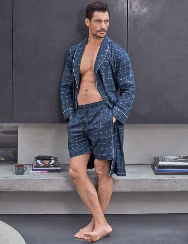 1252d2510050a Supima® Cotton Lightweight Dressing Gown. David Gandy for Autograph