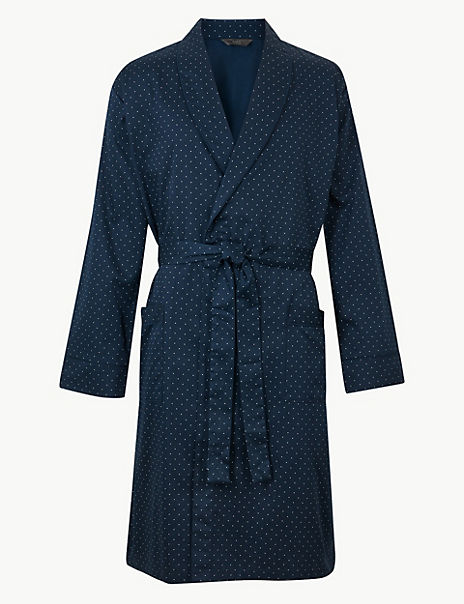 Pure Cotton Lightweight Dressing Gown