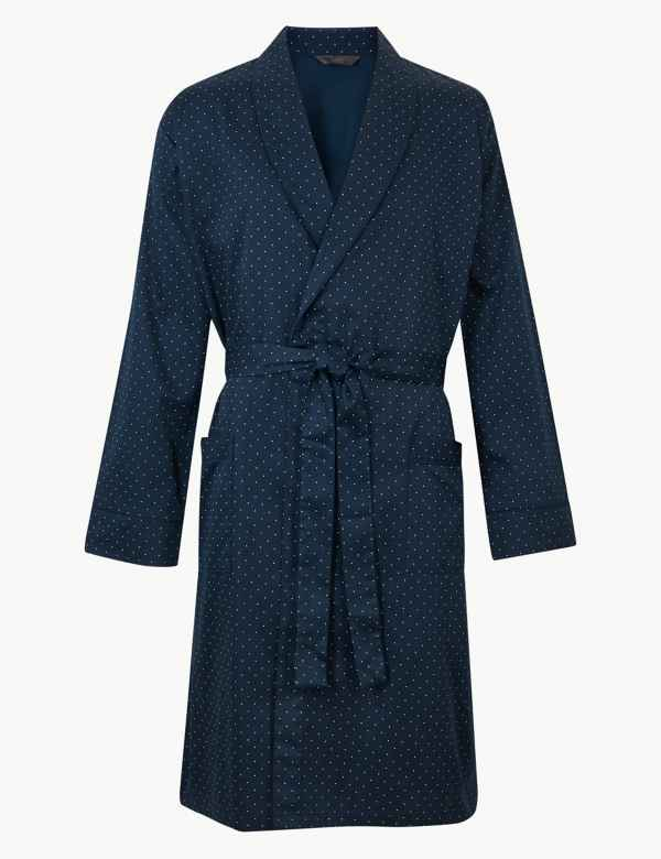 Pure Cotton Lightweight Dressing Gown c1b83cd32978