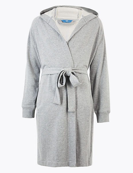 Supersoft Cotton Jersey Hooded Dressing Gown