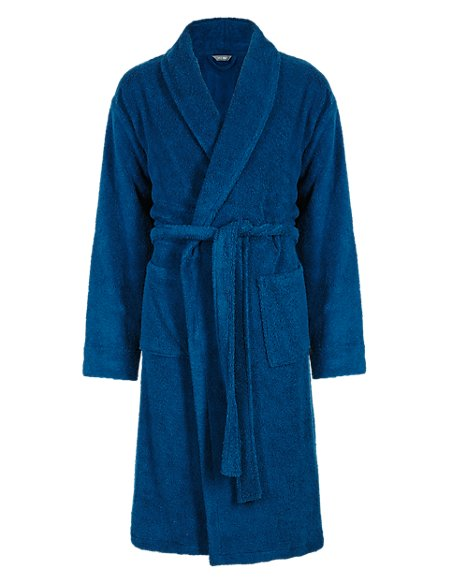Cotton Rich Towelling Dressing Gown | M&S Collection | M&S