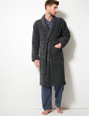 Mens Grey Nightwear Pyjamas Ms