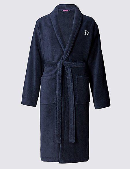 Super Soft Cotton Personalised Alphabet D Gown